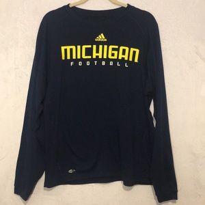 Adidas Navy Blue Michigan Football Shirt. SZ M